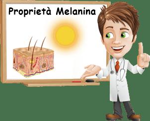 Proprietà melanina