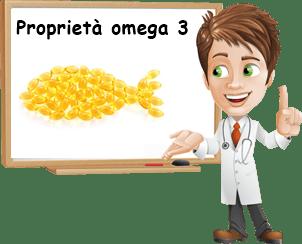 Proprietà omega 3