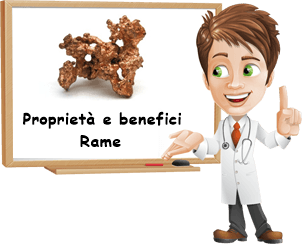 Proprietà e benefici Rame