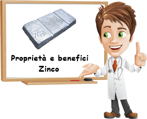 Proprietà e benefici Zinco