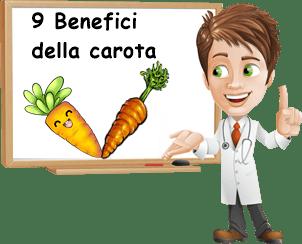 Benefici carota