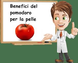 benefici del pomodoro per la pelle