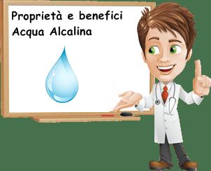 Acqua alcalina ionizzata