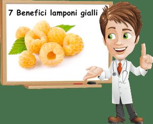 benefici lamponi gialli