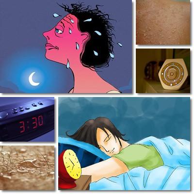 Sudorazione notturna: sintomi e cause