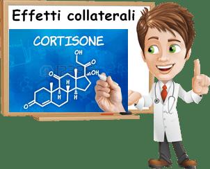 effetti collaterali cortisone
