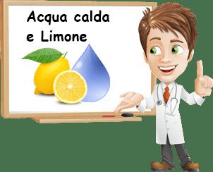 Proprietà acqua calda e limone
