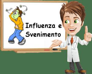 Influenza e svenimento