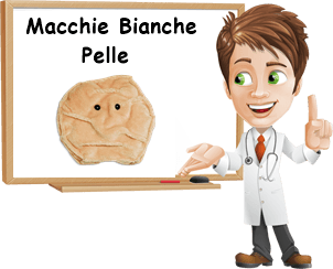 Cause macchie bianche pelle