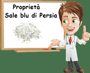 Proprietà sale blu di persia