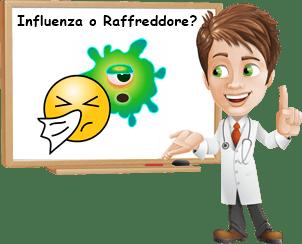 Differenza tra influenza e raffreddore