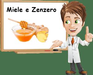 Benefici miele e zenzero
