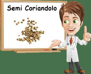 Benefici semi di coriandolo
