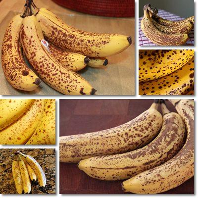 banane con puntini neri