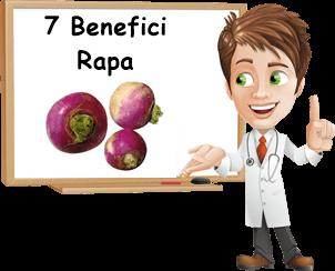 maggiori benefici della rapa
