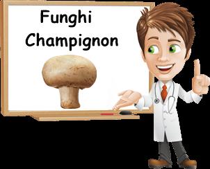 benefici funghi champignon