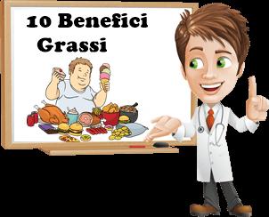 benefici dei grassi nell'alimentazione