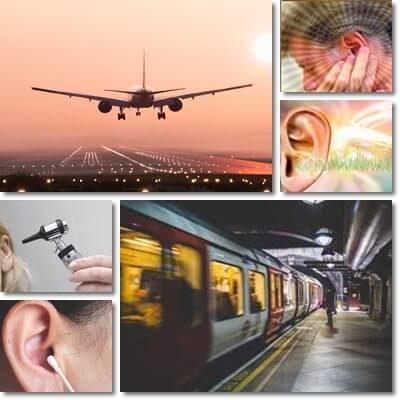 orecchie tappate treno, metro ed ascensore